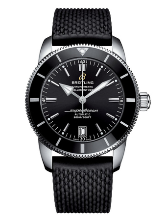 Breitling Superocean Heritage II 46 Black Dial Black Rubber Men's Watch AB202012/BF74-267S