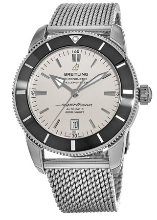 Breitling Superocean Heritage II 46 Silver Dial Stainless Steel Men's Watch AB202012/G828-152A