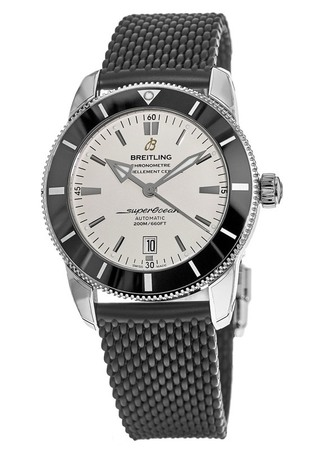 Breitling Superocean Heritage II 46 Silver Dial Black Rubber Strap Men's Watch AB202012/G828-256S
