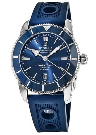 Breitling Superocean Heritage II Automatic 46 Gun Blue Dial Blue Rubber Ocean Racer Men's Watch AB202016/C961-205S