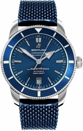 Breitling Superocean Heritage II 46 Blue Dial Blue Rubber Men's Watch AB202016/C961-276S