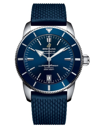 Breitling Superocean Heritage II 46 Blue Dial Blue Rubber Men's Watch AB202016/C961-277S