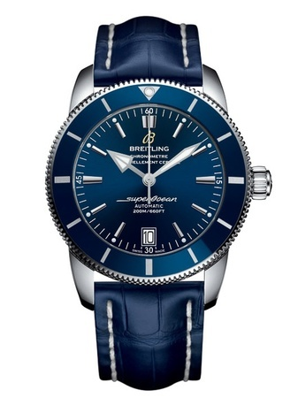 Breitling Superocean Heritage II 46 Blue Dial Blue Leather Men's Watch AB202016/C961-746P