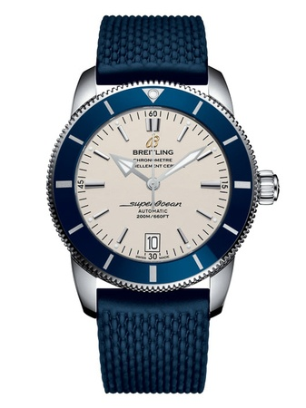 Breitling Superocean Heritage II 46 Stratus Silver Dial Blue Rubber Aero Classic Men's Watch AB202016/G828-277S