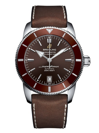 Breitling Superocean Heritage II Automatic 46 Bronze Brown Leather Men's Watch AB202033/Q618-295S