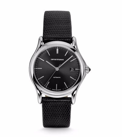 Emporio Armani Classic  Automatic Black Lizard Men's Watch ARS3101