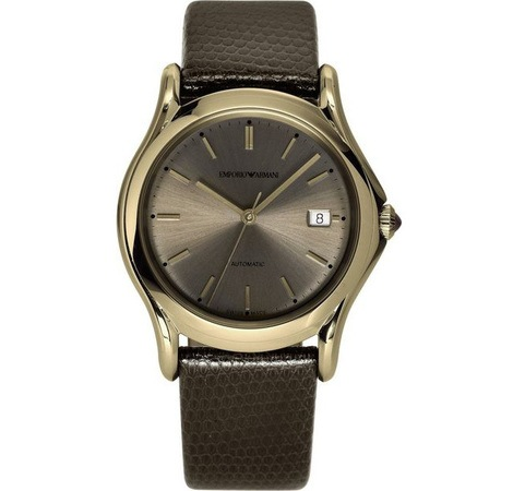 Emporio Armani Classic  Automatic Brown Lizard Men's Watch ARS3105