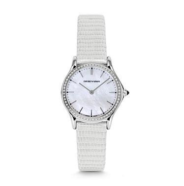 Emporio Armani Classic  Mother of Pearl Diamond Dial Women's Watch ARS7010