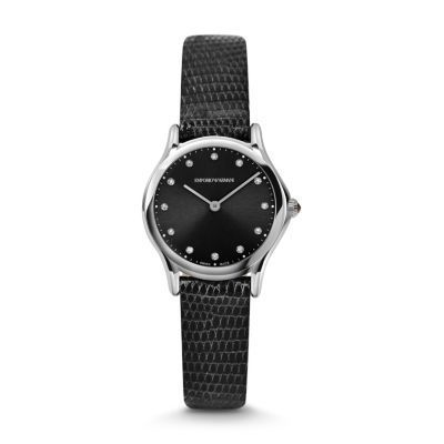 Emporio Armani Classic  Black Diamond Dial Women's Watch ARS7502