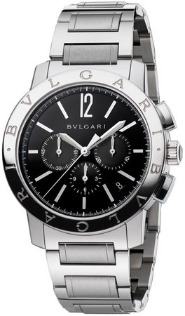 Bulgari Black  Chronograph Men's Watch BB41BSSDCH
