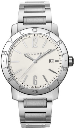 Bulgari   Off White Dial Stainless Steel Men's Watch BB41WSSD
