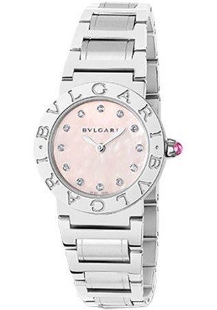 Bulgari   Pink Mother of Pearl Diamond Dial Women's Watch BBL26C2SS/12
