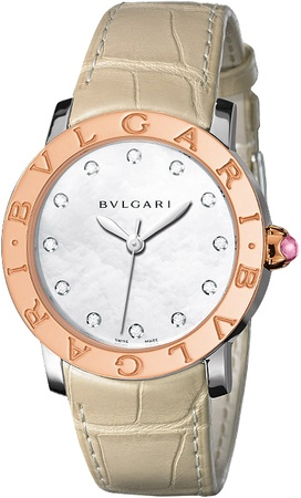 Bulgari   Rose Gold Mother Of Pearl Dial Women's Watch BBL33WSPGL/12