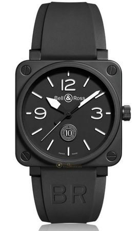 Bell & Ross Aviation  Ceramic Limited Edition Watch Men's Watch BR01-92-10TH-CE