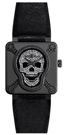 Bell & Ross Aviation  BR 01 Skull 415 Men's Watch BR0192-AIRBOR-LGD