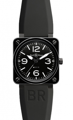 Bell & Ross Aviation  Automatic 46mm Men's Watch BR01-92-Black-Ceramic