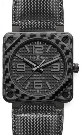 Bell & Ross Aviation  BR 01-92 Carbon Fiber Phantom Men's Watch BR0192-CA-FIBER-PH