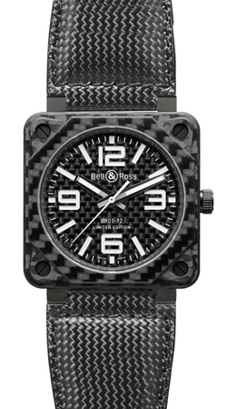 Bell & Ross Aviation  Automatic 46mm Men's Watch BR01-92 Carbon Fiber