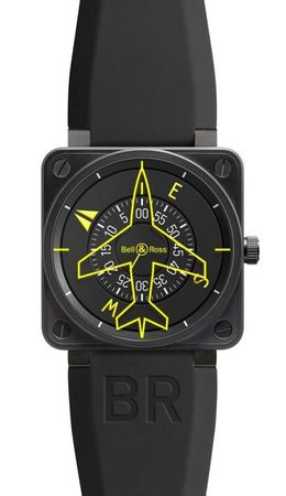 Bell & Ross Aviation  Automatic 46mm Men's Watch BR01-92 Heading Indicator