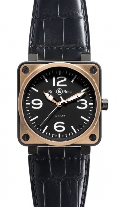 Bell & Ross Aviation  Automatic 46mm Men's Watch BR01-92-Pink-Gold-Carbon