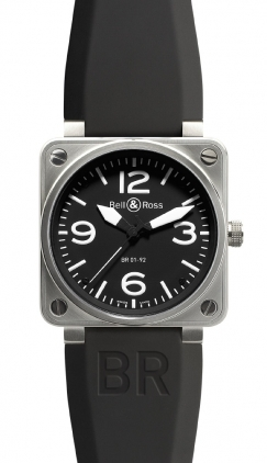 Bell & Ross Aviation  Automatic 46mm Men's Watch BR01-92-Steel-Black