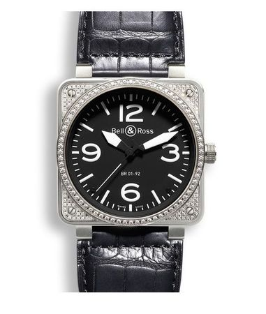 Bell & Ross Aviation   Men's Watch BR 01 92 TOP DIAMOND