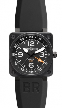 Bell & Ross Aviation  GMT 46mm Men's Watch BR01-93-Gmt