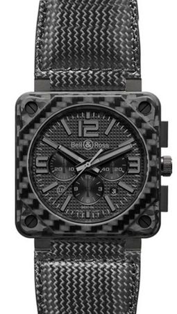 Bell & Ross Aviation  BR 01-94 Carbon Fiber Phantom Men's Watch BR0194-CA-FIBER-PH