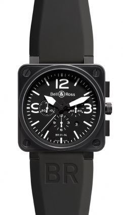 Bell & Ross Aviation  Chronograph 46mm Men's Watch BR01-94-Carbon