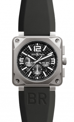 Bell & Ross Aviation  Chronograph 46mm Men's Watch BR01-94-Pro-Titanium-Carbon-Fiber