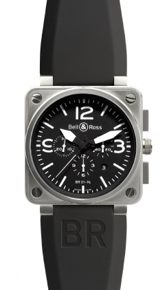 Bell & Ross Aviation  Chronograph 46mm Men's Watch BR01-94-Steel-Black