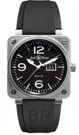 Bell & Ross Aviation  BR 01-94 Gande Date Men's Watch BR0196-BL-ST
