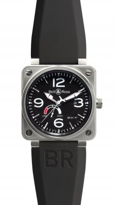 Bell & Ross Aviation  Power Reserve 46mm Men's Watch BR01-97-Reserve-De-Marche