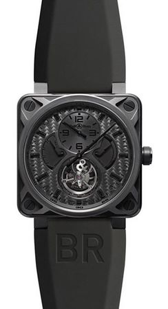 Bell & Ross Aviation  BR 01 Tourbillon Phantom Men's Watch BR01-TOURB-PHANTOM