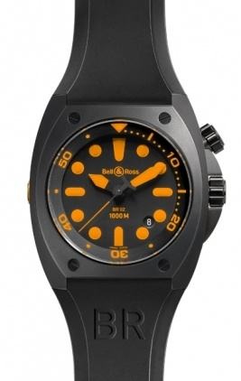 Bell & Ross Marine  Automatic 44mm Men's Watch BR02-92-Orange