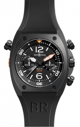 Bell & Ross Marine  Chronograph 44mm Men's Watch BR02-94-Carbon