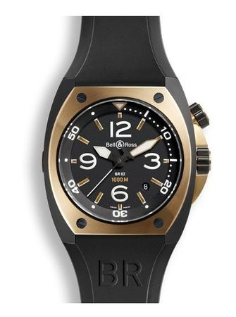 Bell & Ross Marine   Men's Watch BR02-PINKGOLD-CA