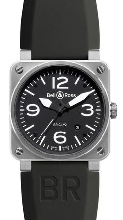 Bell & Ross Aviation  BR 03-92 Steel Men's Watch BR0392-BL-ST
