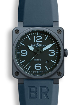 Bell & Ross Aviation  Automatic 42mm Men's Watch BR03-92-Blue-Ceramic