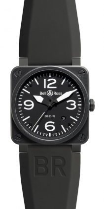 Bell & Ross Aviation  Automatic 42mm Men's Watch BR03-92-Carbon