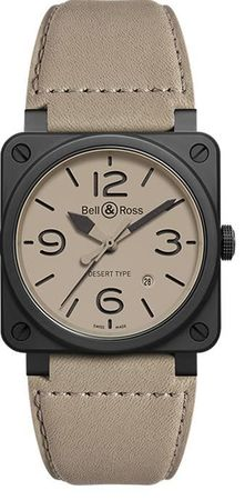 Bell & Ross Aviation   Men's Watch BR0392-DESERT-CE