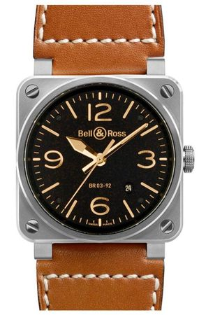 Bell & Ross Aviation  Automatic 42mm Men's Watch BR03-92 Golden Heritage
