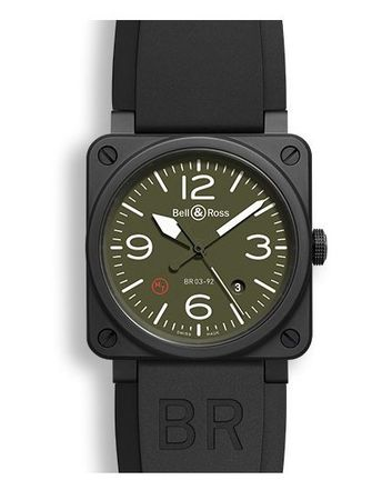 Bell & Ross Aviation   Men's Watch BR0392-MIL-CE