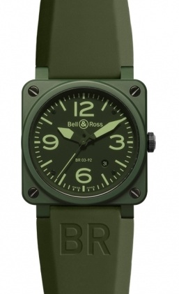 Bell & Ross Aviation  Automatic 42mm Men's Watch BR03-92-Military-Ceramic