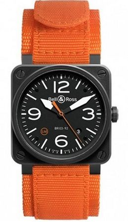 Bell & Ross Aviation  BR 03-92 Carbon Orange Men's Watch BR0392-O-CA