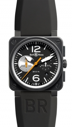 Bell & Ross Aviation  Chronograph 42mm Men's Watch BR03-94-Black-White
