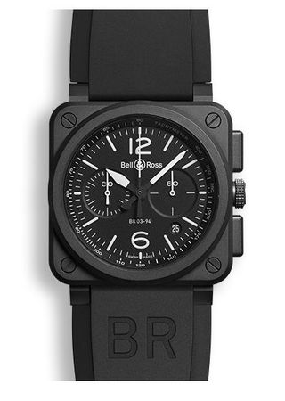 Bell & Ross Aviation   Men's Watch BR0394-BL-CE