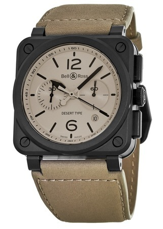 Bell & Ross Aviation   Men's Watch BR0394-DESERT-CE