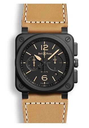 Bell & Ross Aviation   Men's Watch BR0394-HERI-CE
