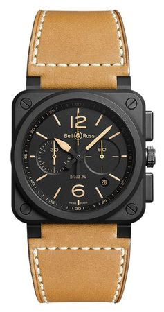 Bell & Ross Aviation  Chronograph 42mm Men's Watch BR03-94-Heritage